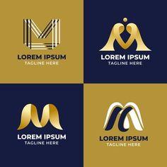 Vector Premium | Logotipo de la letra m Abstract Logo, Abstract Styles, Lettering Design, Logo Design, Design Art, Banners, Supermarket Logo, Logo Smart, Money Logo