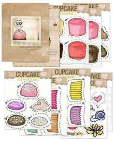 This is from Volume25. This is a cute...free printable. Build your own cupcake. Laminate and cut.  Would be great to keep little ones entertained. Years ago I had an activity like this I used during speech therapy sessions. This is so much cuter.