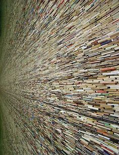 Czech Artist Matej Kren creates ambitious structures using old books destined for the landfill.