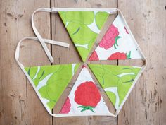 Fruit Cocktail Pear & Raspberry Kitchen by annasbluebellblue Bunting Banner, Banners, Etsy Handmade, Handmade Gifts, Photo Props, Small Businesses, Pear, Garland, Panda