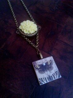 Antique butterfly necklace