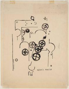 """Francis Picabia, """"Despertador"""" (1919). """"Potser per això els estranys engranatges que trobe sovint escampats en qualsevol racó, la maquinària que omple el soterrani i s'engega quan menys m'ho espere."""""""