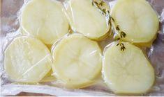 Patatas asadas sous vide - A la carta para dos Sous Vide, Honeydew, Fruit, Recipes, Food, Wings, Sliced Potatoes, Cooking Recipes, Side Dishes