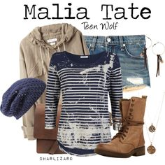Malia Tate by charlizard on Polyvore featuring ONLY, Étoile Isabel Marant, rag & bone, Steve Madden, Topshop, Bee Charming, Nordstrom, MTV, TeenWolf and TV