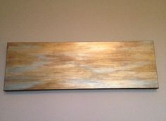 Subtle Gold Abstract Canvas by SarahKKreations on Etsy