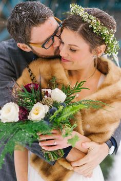Flower crowns are great for any season and the fur wrap will definitely be in this winter season.