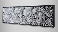 Hidden Wave 16×48″  sculpted canvas and acrylic. Artists: STALLMAN – Jason Hallman + Stephen Stum