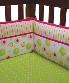 Take a look at this Pink Splash Bumper Set on zulily today!