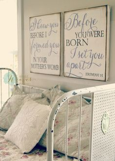 """I knew you before I formed you"" Canvas Art Set {customizable}"