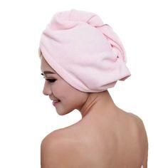 Neborn Quick Dry Hair Microfiber Towel Hair Magic Dry Turban Wrap Hat Sombrero SPA Family Shower Hair Dry Cap