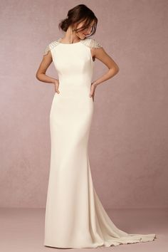 237f1292eed Dylan Gown from  BHLDN Column Wedding Dresses