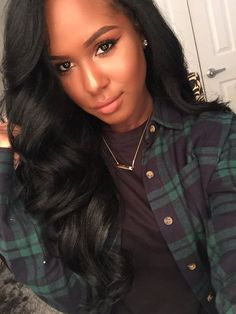Black Weave Hairstyles Gorgeous Side Part Black Weave  Google Search  Prom Hair  Pinterest