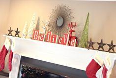 Holiday Mantel Decor Christmas