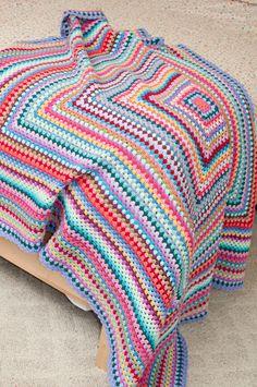 thistlebear: Giant Granny Square blanket