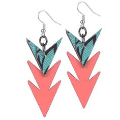 Miss Wax Charged Up Tribal Stack Earring ($25) ❤ liked on Polyvore