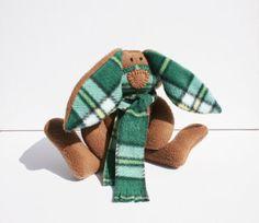 Cape Breton Tartan Bunny stuffed rabbit by TwistedKnickersInc, $25.00