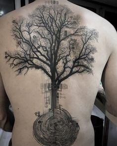 Tree back tattoo - 100 Awesome Back Tattoo Ideas <3 <3