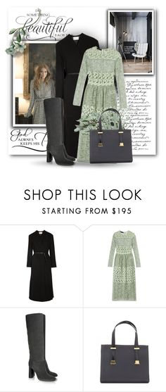"""""""3 Color Challenge Series Continued: Mint, Black & Gray #2"""" by bliznec ❤ liked on Polyvore featuring Lemaire, Burberry, Lanvin and Ted Baker"""