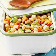 Cilantro Three-Bean Salad Easy do ahead salad       From:  Diabetic Living /  Better Homes  Test Kitchen