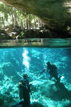 "I have not yet gone to ""Cenote Dos Ojos"", Riviera Maya, but love this photo. How do they do it?"