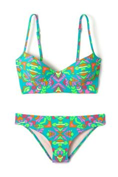 Underwire Bra Top | Everything But Water- Love the bright colors!