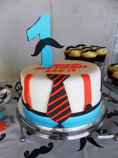 Little Man Mustache cake — Birthday Cake Photos