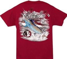 NCAA Florida State Seminoles Guy Harvey Garnet Fishing Boat T-Shirt