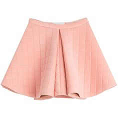 Marina Hoermanseder Structured Skirt ($405) ❤ liked on Polyvore featuring skirts, bottoms, pink, red skirt, anchor skirt, pink skater skirt, quilted skirt and pink circle skirt