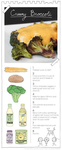 Creamy Broccoli.  More recipes at: TheVeganStoner.com