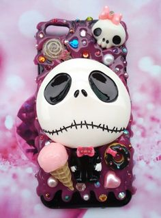 For All Samsung models with the nightmare before Christmas jack on pink icing