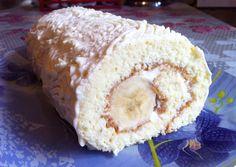 Бисквитный Рулет/Рулет с Бананом/Sponge Cake/Простой Пошаговый Рецепт