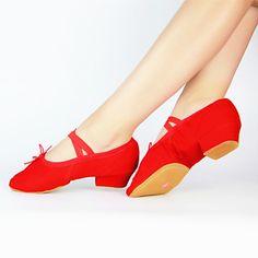Chaussures+de+danse+(Noir/Rose/Rouge)+-+Non+personnalisable+-+Gros+talon+-+Toile+-+Ballet+–+EUR+€+11.46