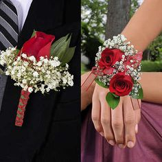 16 corsage and Boutonniere - has nationwide Delivery of Flowers, Next Day Service, Satisfaction Red Corsages, Prom Corsage And Boutonniere, Bridesmaid Corsage, Flower Corsage, Corsage Wedding, Bridal Bouquets, Corsage Formal, Red Rose Boutonniere, Boutonnieres