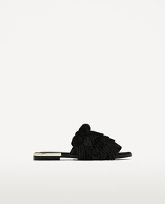 Fringed flat mules. SS Trends 2017