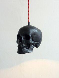 Skull Pendant Light, Etsy