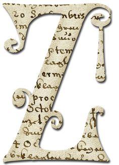 Alfabeto papel antiguo...Z
