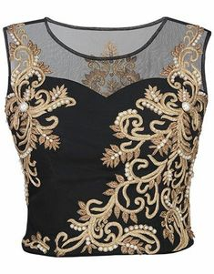 New embroidery fashion detail collars Ideas Chudidhar Neck Designs, Crop Top Designs, Netted Blouse Designs, Stylish Blouse Design, Designer Blouse Patterns, Saree Dress, Saree Blouse, Embroidery Fashion, Hand Embroidery Designs