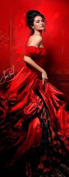 If you could give shape, identity, colors, Red I can imagine so. ~ Se si potesse dare forma, identità, ai colori, il rosso me lo immagino così.