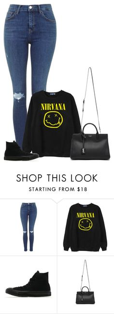 """""""Untitled #1573"""" by directioner-123-ii ❤ liked on Polyvore featuring Chicnova Fashion, Converse, Yves Saint Laurent and FFfatifashion"""