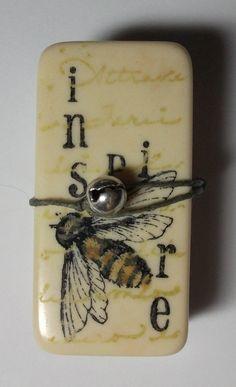 Altered Domino Mini Book. $15.00, via Etsy.