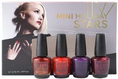 OPI 4 pc Mini Holiday Stars Set, Free Shipping at Nail Polish Canada