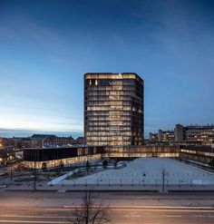 Maersk Tower, extension of the Panum complex at the University of Copenhagen, by C.F. Møller Architects