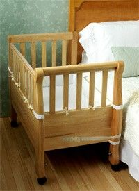 Keeping baby close with a co-sleeper