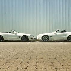 Awesome sportscar Mercedes Benz SL R230 55 AMG 😈