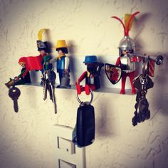 DIY Playmobil Key holder Camper Storage, Storage Organization, Home Hacks, My Dream Home, Projects To Try, Lego, How To Make, Diy, House