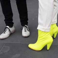 PRESTON ZLY DESIGN X ALEXI FREEMAN - NEO BOOTIE. Limited edition, lovingly hand made Neon Boots - Street Style.  PZD online E:Boutique http://prestonzly.com/Collections/Alexi_Freeman/Bootie