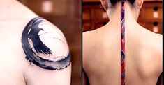 Beijing-Based Tattoo Artist's Beautiful Brushstroke Style Tattoos