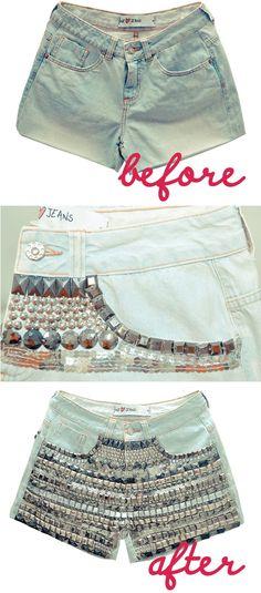 DIY: Customizando Short Jeans