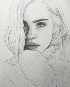 Supreme Portrait Drawing with Charcoal Ideas. Prodigious Portrait Drawing with Charcoal Ideas. Beautiful Pencil Drawings, Pencil Art Drawings, Realistic Drawings, Art Drawings Sketches, Easy Drawings, Girl Pencil Drawing, Drawing Drawing, Pencil Drawing Tutorials, Pretty Drawings