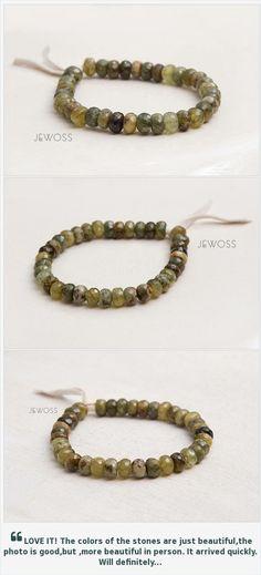 Lucky gemstone bracelet Green garnet and peridot bracelet Beaded jewelry Stacking bracelet Prosperity Money Genuine green gemstones https://www.etsy.com/Jewoss/listing/229402936/lucky-gemstone-bracelet-green-garnet-and?ref=shop_home